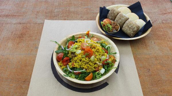 Quinoa salade met grill groente